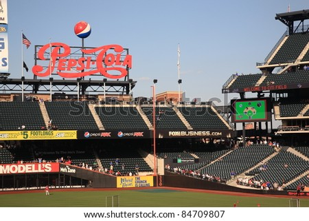 NEW YORK - JULY 15: Pepsi Porch at Citi Field, home of the National League Mets, on July 15, 2011 in New York. Opened in 2009, it seats 41,800 baseball fans and cost $900 million.