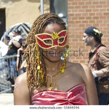NEW YORK - JUNE 19: An unidentified Participant attends the 2010 Mermaid Parade at Coney Island on June 19, 2010 in the Brooklyn,  New York.