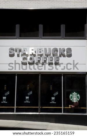 NEW YORK - JUNE 06: Starbucks Coffee Store on June 06 2014 in New York, United States