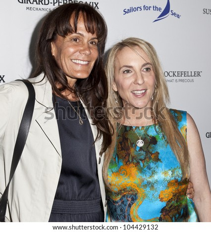 NEW YORK - JUNE 05: Susan Rockefeller and Julie Gilhart attend the Girard-Perregaux Honors Susan And David Rockefeller At Screening Of 'Mission Of Mermaids' on June 5, 2012 in New York City.