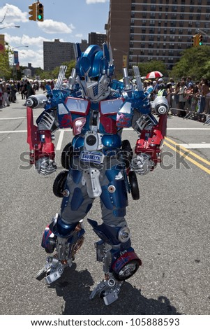 NEW YORK - JUNE 23: Unidentified participant as robot attends 30th annual Mermaid parade on Coney Island in Brooklyn on June 23, 2012 in New York City.