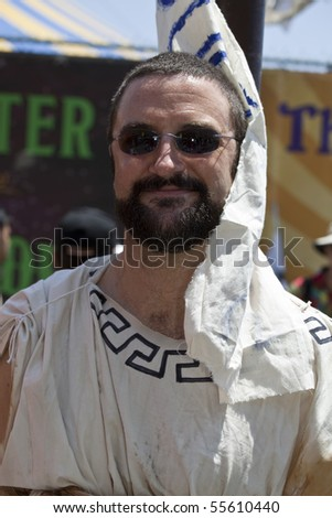 NEW YORK - JUNE 19: Unidentified participant attends Mermaid parade on Coney Island in Brooklyn on June 19, 2010 in New York City.