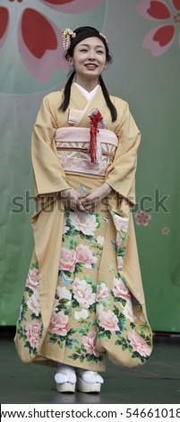 NEW YORK - JUNE 6: Unidentified Participant in kimono costume at Annual Japan Day in Central Park on June 6, 2010 in New York City.