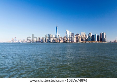 New York, Lower Manhattan and Financial District skyline #1087674896