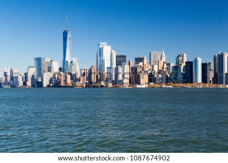 New York, Lower Manhattan and Financial District skyline #1087674902