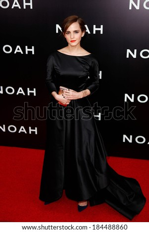"""NEW YORK-MAR 26: Actress Emma Watson attends the premiere of """"Noah"""" at the Ziegfeld Theatre on March 26, 2014 in New York City."""