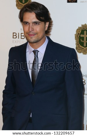 "NEW YORK-MAR 19: Diogo Morgado attends the opening night gala of ""The Bible Experience"" on March 19, 2013 in New York City."