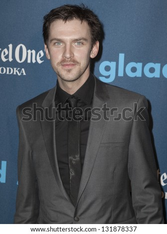 NEW YORK - MARCH 16: Dan Stevens attends the 24th annual GLAAD Media awards at The New York Marriott Marquis on March 16, 2013 in New York City.