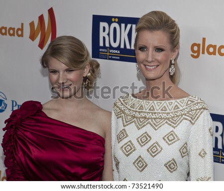 NEW YORK - MARCH 19: Sandra Lee and guest attend the 22nd Annual GLAAD Media Awards at The New York Marriott Marquis on March 19, 2011 in New York City.