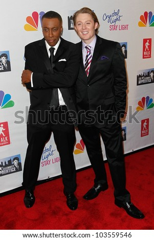 NEW YORK-MAY 20: Arsenio Hall and Clay Aiken attend the 'Celebrity Apprentice' Live Finale at the American Museum of Natural History on May 20, 2012 in New York City.