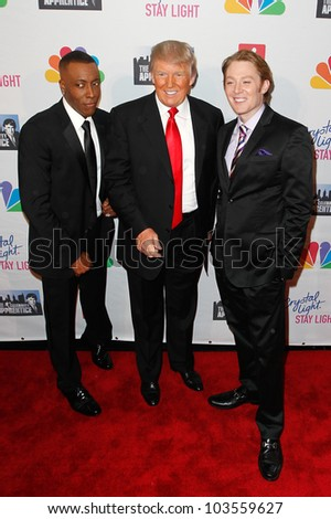 NEW YORK-MAY 20: Arsenio Hall, Donald Trump and Clay Aiken attend the 'Celebrity Apprentice' Live Finale at the American Museum of Natural History on May 20, 2012 in New York City.