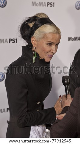 NEW YORK - MAY 23: Daphne Guinness attends party at MoMA during launch of partnership between Volkswagen and Museum of Modern Art on May 23, 2011 in New York City