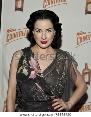 NEW YORK - MAY 05: Dita Von Teese attends launch of her new signature cocktail 'The Cointreau MargaDita' at Los Feliz restaurant on May 05, 2011 in New York City