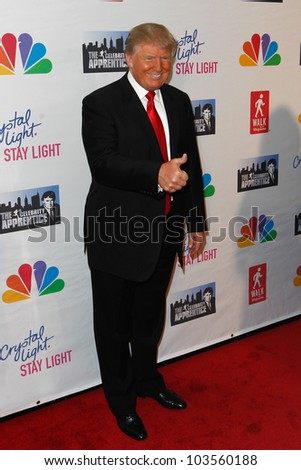 "NEW YORK-MAY 20: Donald Trump attends the ""Celebrity Apprentice"" Live Finale at the American Museum of Natural History on May 20, 2012 in New York City."