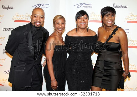 NEW YORK - MAY 3: Members of the Steve Harvey Morning Show attend the