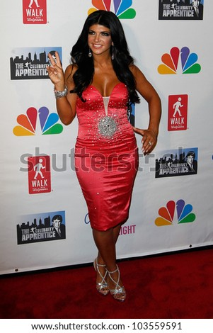NEW YORK-MAY 20: TV personality Teresa Giudice attends the 'Celebrity Apprentice' Live Finale at the American Museum of Natural History on May 20, 2012 in New York City.