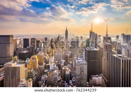 Photo of  New York, New York, USA skyline.