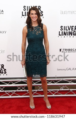 "NEW YORK-NOV 12: Lilly Hartley attends the premiere of ""Silver Linings Playbook"" at the Ziegfeld Theatre on November 12, 2012 in New York City."