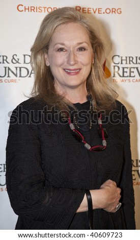 NEW YORK - NOVEMBER 9: Actress Meryl Streep attends The Christopher and Dana Reeve Foundation's 'A Magical Evening' gala at the Marriot Marquis on November 9, 2009 in New York City.