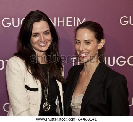 NEW YORK - NOVEMBER 04: Annie Churchill and Dalia Oberlander attend the 2010 Hugo Boss Prize at Solomon R. Guggenheim Museum on November 4, 2010 in New York City.