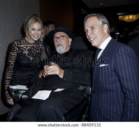 NEW YORK - NOVEMBER 08: Artist Chuck Close and designer Tommy Hilfiger attend the 3rd Annual Norman Mailer Center Gala at the Mandarin Oriental Hotel on November 8, 2011 in New York City