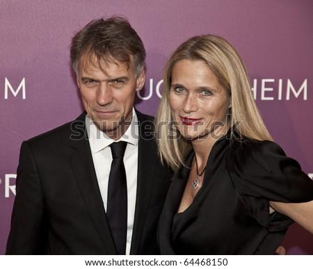 NEW YORK - NOVEMBER 04: Claus-Dietrich Lahrs, Iris Lahrs attend the 2010 Hugo Boss Prize at Solomon R. Guggenheim Museum on November 4, 2010 in New York City.