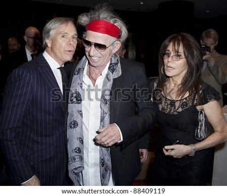 NEW YORK - NOVEMBER 08: Musician Keith Richards and designer Tommy Hilfiger attend the 3rd Annual Norman Mailer Center Gala at the Mandarin Oriental Hotel on November 8, 2011 in New York City
