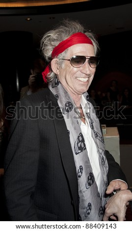NEW YORK - NOVEMBER 08: Musician Keith Richards attends the 3rd Annual Norman Mailer Center Gala at the Mandarin Oriental Hotel on November 8, 2011 in New York City