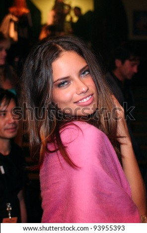 NEW YORK - NOVEMBER 9: Victoria's Secret Fashion model  Adriana Lima getting ready backstage during the 2010 Victoria's Secret Fashion Show on November 9, 2005 at the Lexington Armory, New York City.