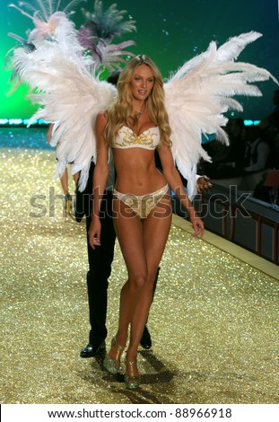NEW YORK - NOVEMBER 10: Victoria's Secret sexy model walks the runway during the 2010 Victoria's Secret Fashion Show on November 10, 2010 at the Lexington Armory in New York City.