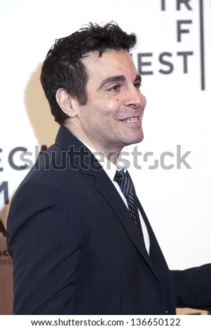 NEW YORK, NY - APRIL 27: Actor Mario Cantone attends the closing night screening of 'The King of Comedy' during the 2013 Tribeca Film Festival at BMCC Tribeca PAC on April 27, 2013 in New York City. - stock photo