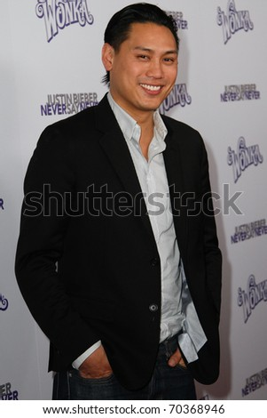 "NEW YORK, NY - FEBRUARY 02: Director Jon Chu attends the ""Justin Bieber: Never Say Never"" New York movie premiere at the Regal E-Walk 13 Theater on February 2, 2011 in New York City."