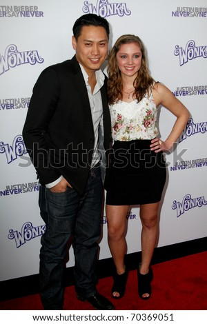"NEW YORK, NY - FEBRUARY 02: Director Jon Shu and Lynsey Mickolas attend ""Justin Bieber: Never Say Never"" New York movie premiere at the Regal E-Walk 13 Theater on February 2, 2011 in New York City."