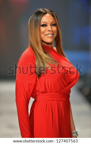 NEW YORK, NY - FEBRUARY 06: Wendy Williams wearing Kamali Kulture walks the runway at The Heart Truth's Red Dress Collection during Fall 2013 Mercedes-Benz Fashion Week on February 6, 2013, NYC.