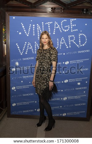 NEW YORK, NY - JANUARY 13, 2014: Annelise Peterson attends the Vintage Vanguard event benefiting Dress For Success at Jane Hotel in New York City