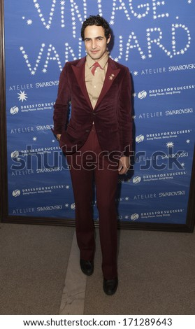 NEW YORK, NY - JANUARY 13, 2014: Designer Zac Posen attends the Vintage Vanguard event benefiting Dress For Success at Jane Hotel in New York City