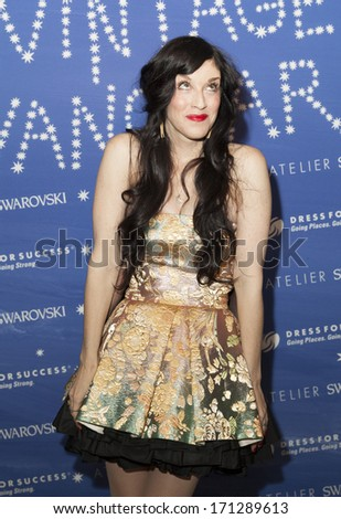 NEW YORK, NY - JANUARY 13, 2014: Sarah Sophie Flicker attends the Vintage Vanguard event benefiting Dress For Success at Jane Hotel in New York City