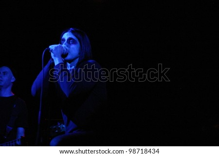 NEW YORK, NY - MARCH 6: Beta Plus Embryo opens for Orgy at Irving Plaza on March 6, 2012 in New York, NY. - stock photo