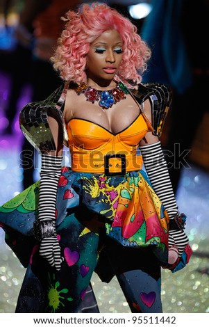 NEW YORK, NY - NOVEMBER 09: Nicki Minaj performs on the runway during the 2011 Victoria's Secret Fashion Show at the Lexington Avenue Armory on November 9, 2011 in New York City.