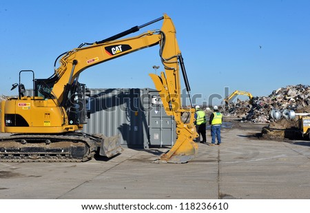 NEW YORK, NY - NOVEMBER 09:  Reese Park parking lot was converted to GIANT garbage place as part of Far Rockaway on November 9, 2012 in the Queens borough of New York City.