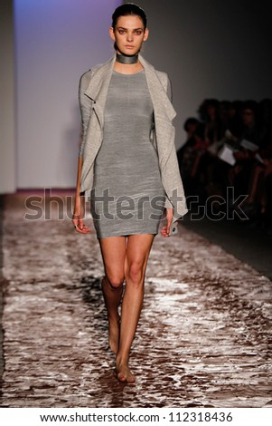 NEW YORK, NY - SEPTEMBER 6: A model walks the runway during theKimberly Ovitz  Spring Summer 2013  fashion show during Mercedes-Benz Fashion Week on September 6, 2012 in New York City, USA