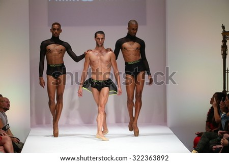 NEW YORK, NY - SEPTEMBER 12: Well known ballet dancers closes the Marco Marco fashion show during Spring 2016 New York Fashion Week at Gotham Hall on September 12, 2015 in New York City.