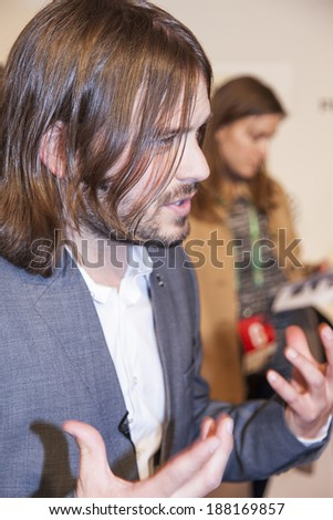 New York, NY, USA - April 19, 2014: Director Alan Hicks attends the premiere of \'Keep On Keepin\' On\' during the 2014 Tribeca Film Festival at BMCC Tribeca PAC, Manhattan