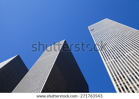 New York, NY, USA - September 17, 2014: 1221 Avenue of the Americas: 1221 Avenue of the Americas is a skyscraper built in 1969, located at 1221 Sixth Avenue, in Manhattan.