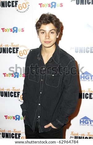 NEW YORK - OCTOBER 13: Actor Jake Austin attends the 60th Anniversary of Trick-or-Treat for UNICEF at The Xchange on October 13, 2010 in New York City. - stock photo