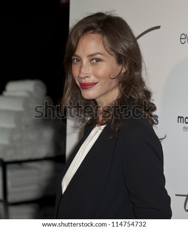 NEW YORK - OCTOBER 05: Christy Turlington Burns attends launch of The Tracy Anderson Method Pregnancy Project at Le Bain At The Standard Hotel on October 05, 2012 in New York City.