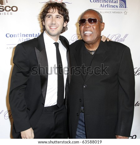NEW YORK - OCTOBER 21: Josh Groban and Sam Moore attend Angel Ball 2010, hosted by Gabrielle's Angel Foundation for Cancer Research at Cipriani's on October 21, 2010 in New York City.
