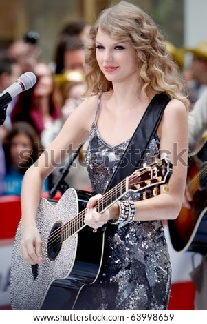 NEW YORK - OCTOBER 26: Singer Taylor Swift performs on NBC's Today Show at Rockefeller Plaza on October 26, 2010 in New York City.