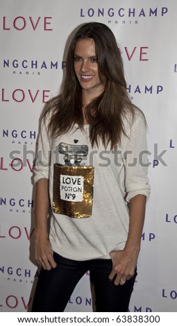 NEW YORK - OCTOBER 26: Supermodel Alessandra Ambrosio attends the 'The Gorgeous Issue' of Love Magazine with Longchamp at Longchamp La Maison Madison on October 26, 2010 in New York, City.
