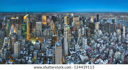 New York's Midtown aerial view